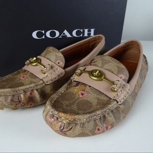 Coach Crosby Driver Floral Signature C Loafer NIB